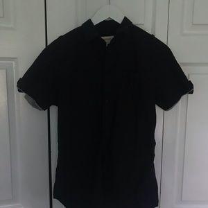 DIESEL black button down short sleeve M casual